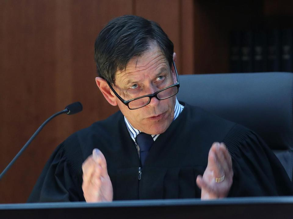 Judge Jeffrey Locke queried a witness during Tuesday's proceedings.